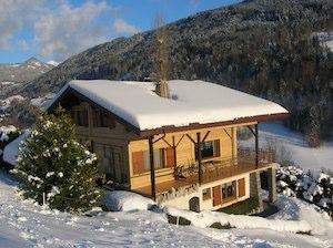Vue d'hiver : la façade ouest